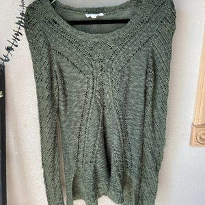 ❄️Cloud Chaser Green Knit Sweater L